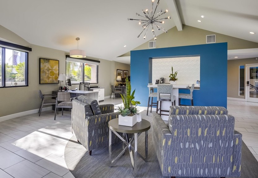 WiFi & Gaming Lounge At Vista Promenade Luxury Apartment Homes in Temecula, CA