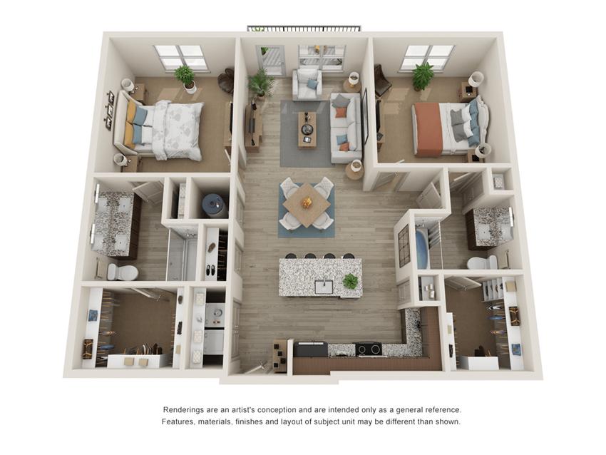 Westloop B2 and B2-2 Floor Plan