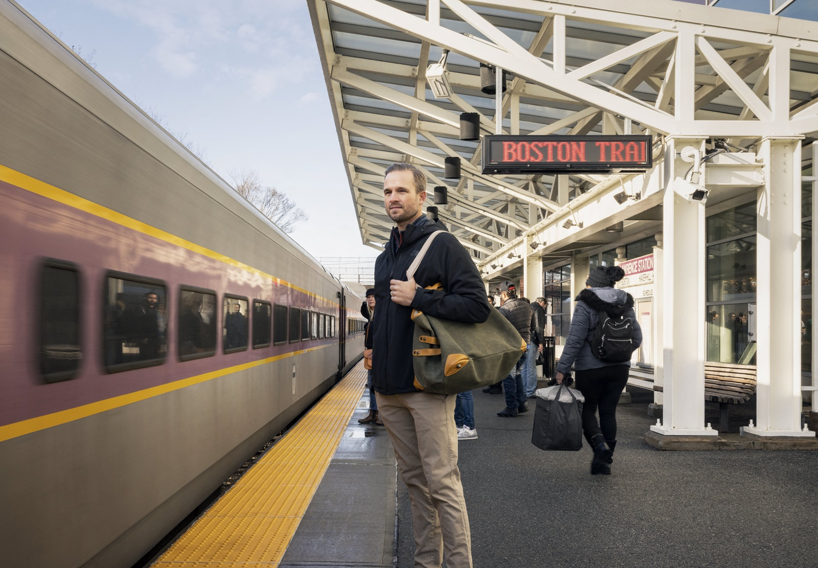 Railway Station at Riverwalk West, Massachusetts, 01843