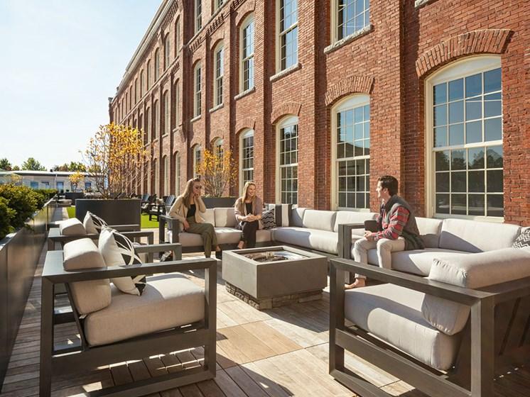 Amazing Outdoor Spaces at Thorndike Exchange, Lowell, Massachusetts