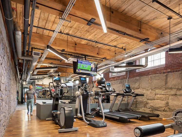 Modern Fitness Center at Thorndike Exchange, Lowell, MA