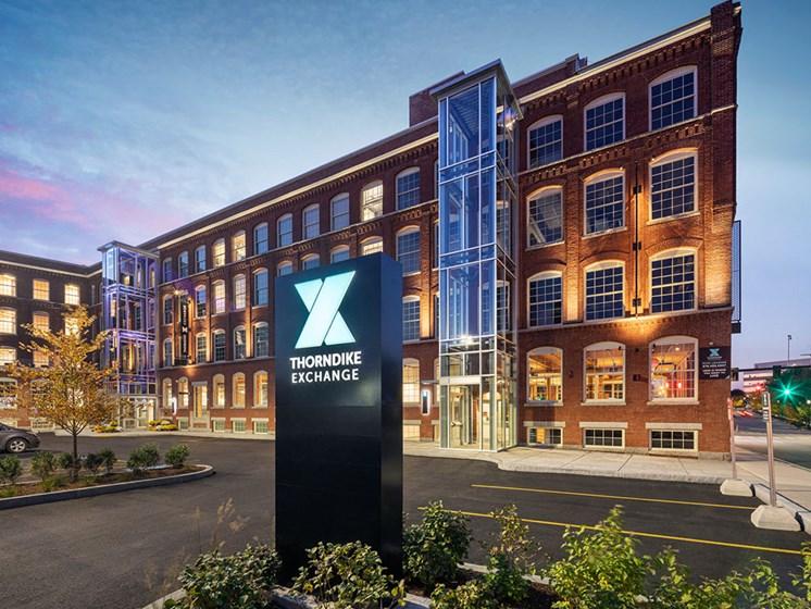 Classic Property Signage Designs at Thorndike Exchange, Massachusetts