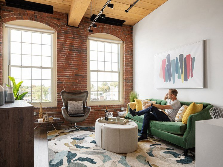 High Ceilings at Thorndike Exchange, Lowell, MA