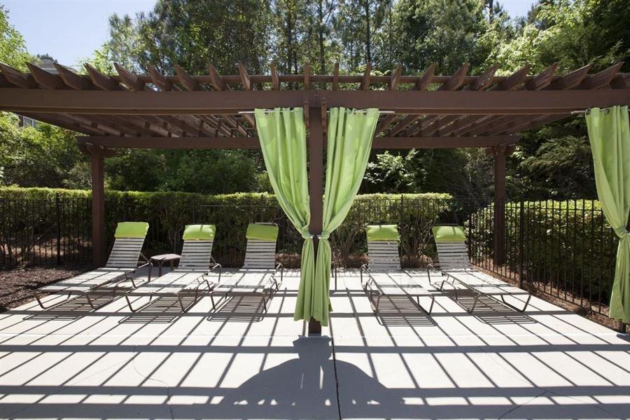 ,Poolside cabanas at TEN35Alexander apartments