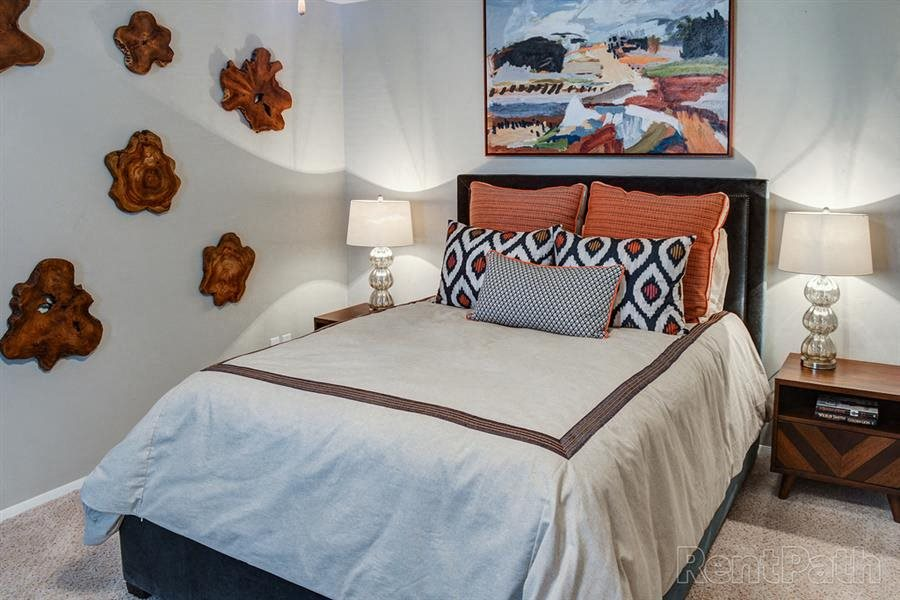 furnished bedroom in Macon GA apartment,