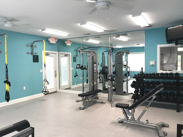 Community fitness center at Crescent Commons