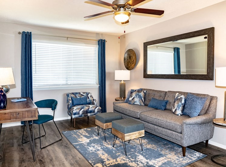 Furnished Living room at Macon GA apartment