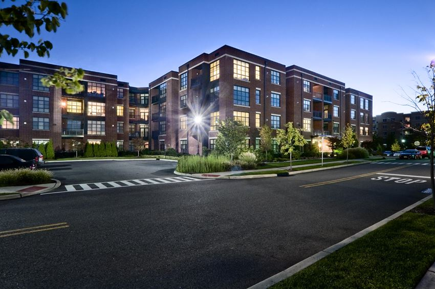 Exterior Night View at The Sheffield at Englewood South