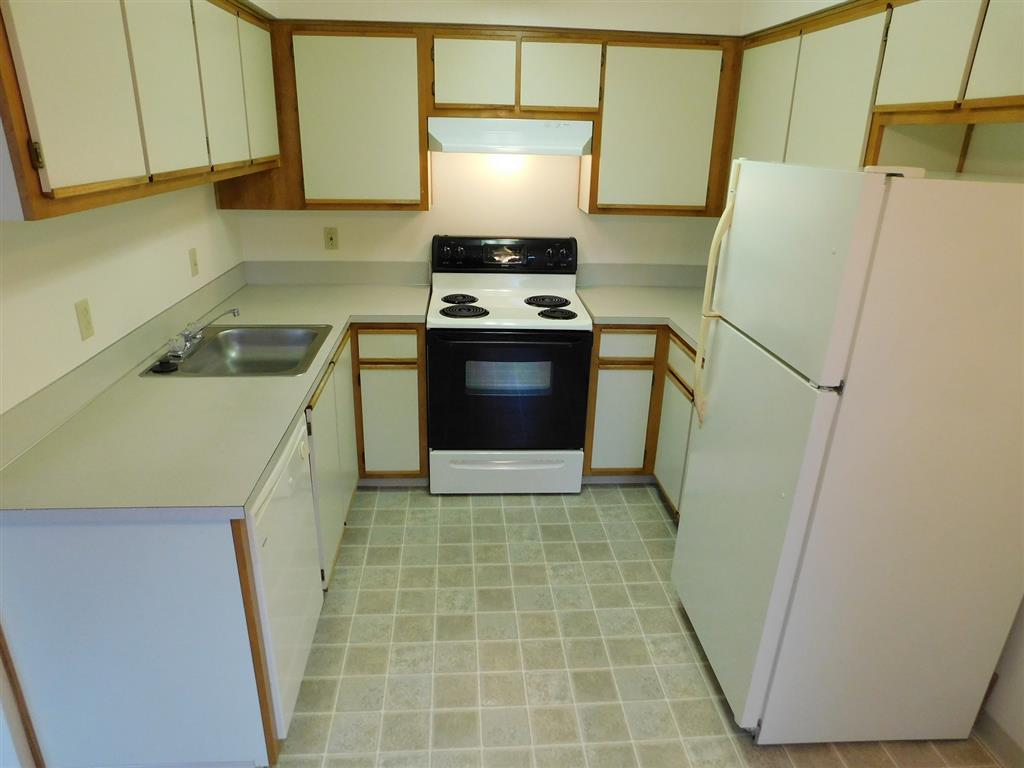 Modern appliances and contemporary fixtures.
