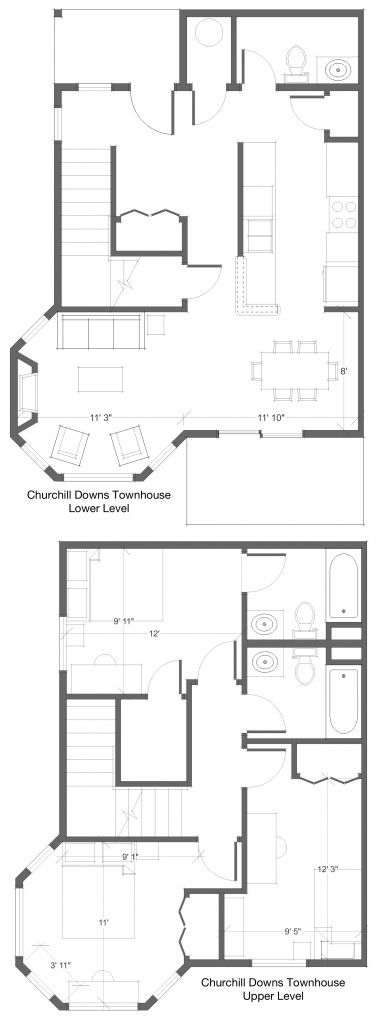 3 Bed 2 Bath TH Floor Plan 4