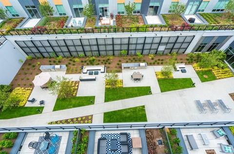Aerial Terrace & Courtyard