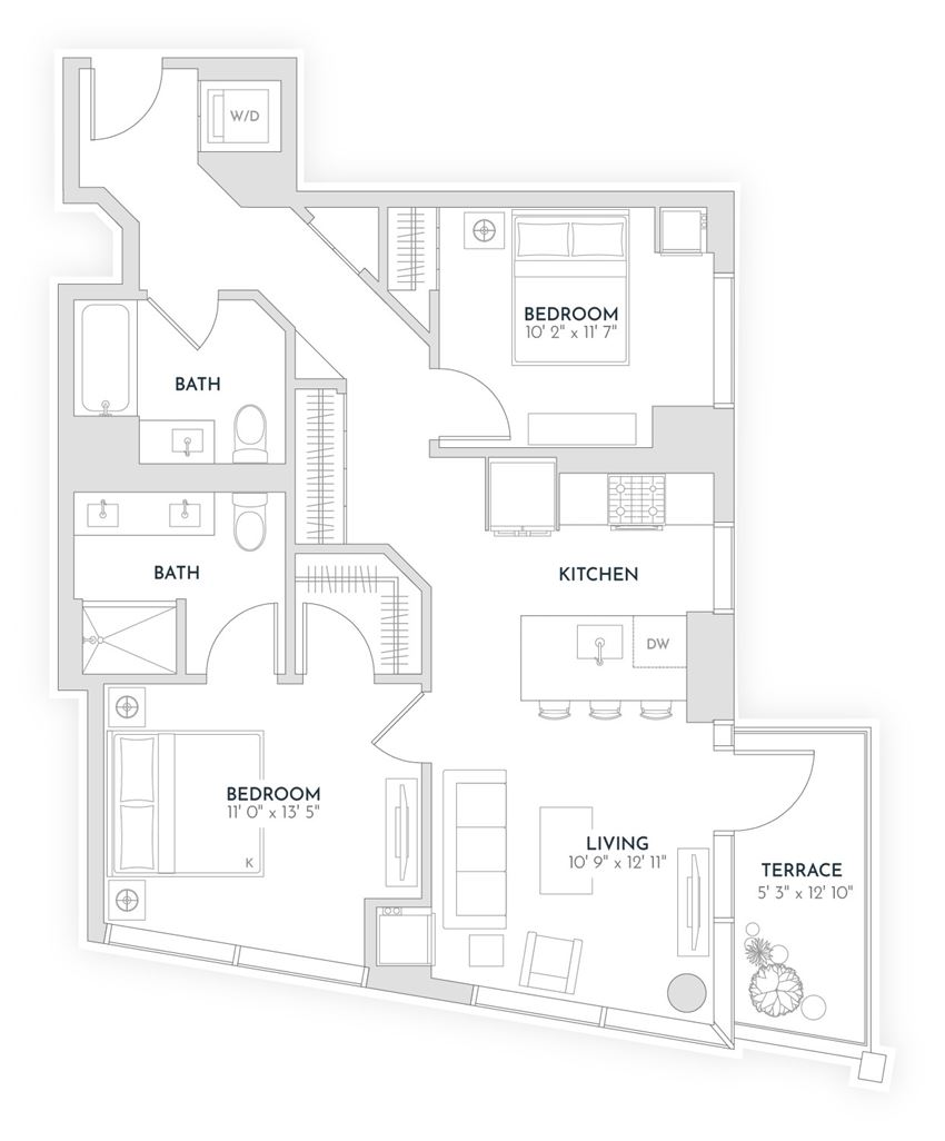 floor plan x12 - Avra West Loop