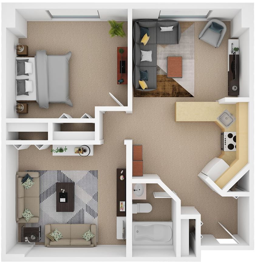 1 Bedroom with Den (D3)