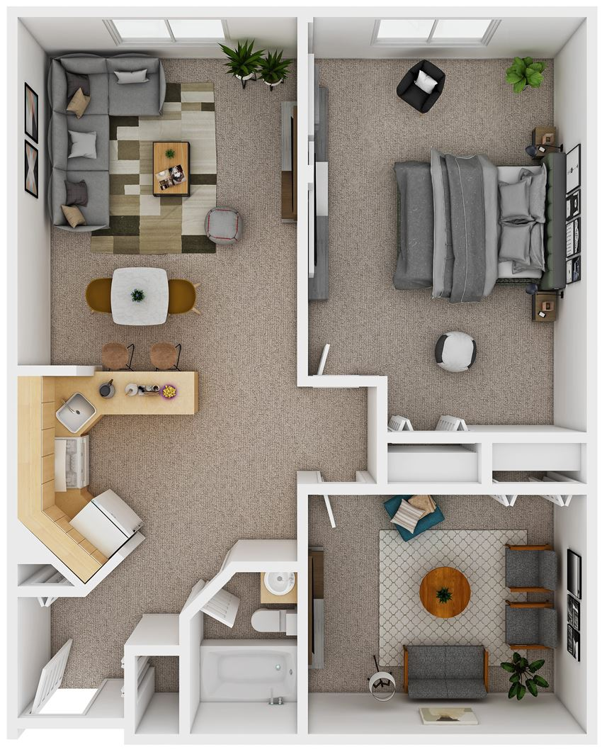 1 Bedroom with Den (D4)