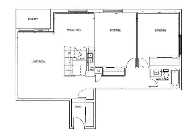 St. Lawrence Village in St. Catharines 2 bedroom floor plan
