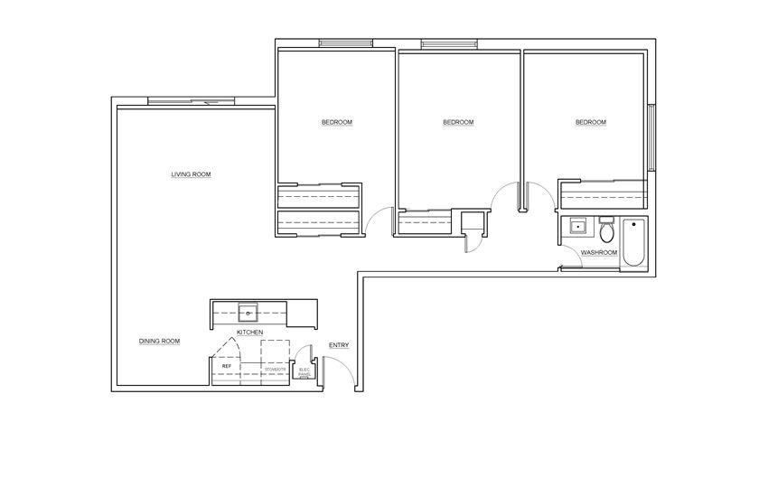 St. Lawrence Village in St. Catharines 3 bedroom floor plan