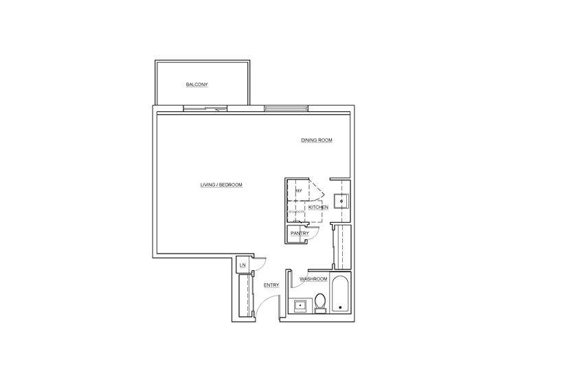 St. Lawrence Village in St. Catharines bachelor floor plan