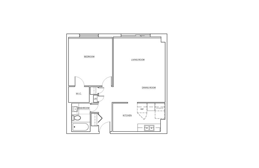 St. Lawrence Village in St. Catharines 1 bedroom floor plan