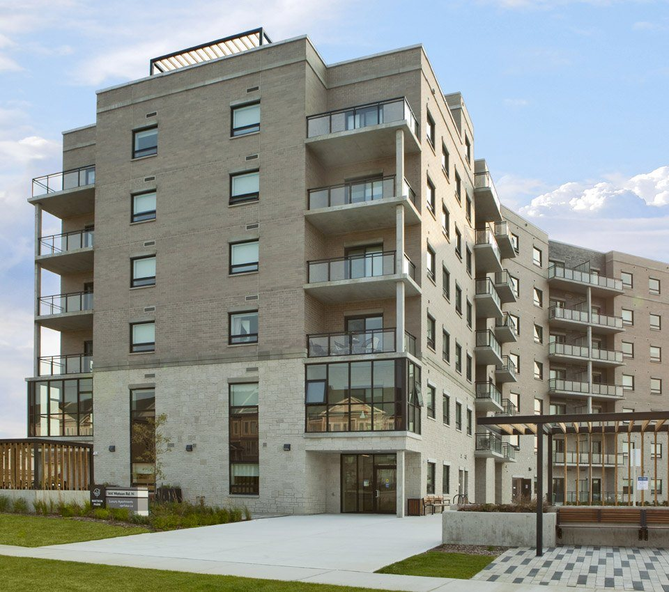 Watson Park Apartments front exterior in Guelph, ON
