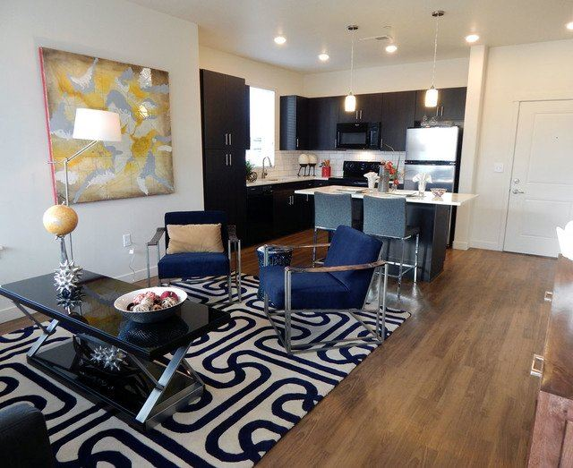 Warm Living And Dining Room at Lofts at 7800Apartments, Midvale