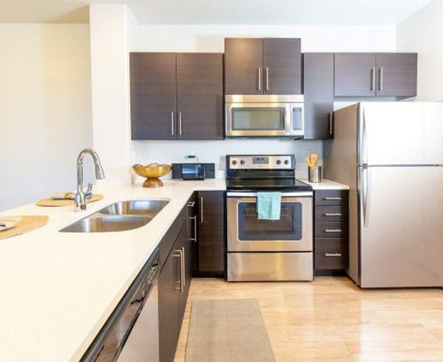All Electric Kitchen at Parc on CenterApartments& Townhomes, Utah, 84057