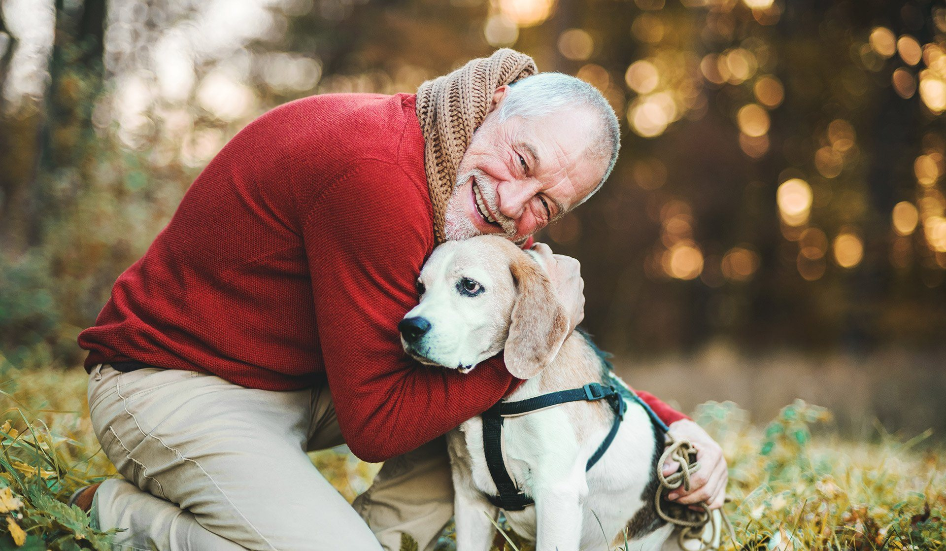Happy Resident with Dog at Cogir of Manteca, California, 95337