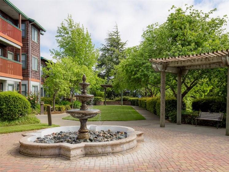 Beautiful Fountain at Cogir of Vallejo Hills, Vallejo, California