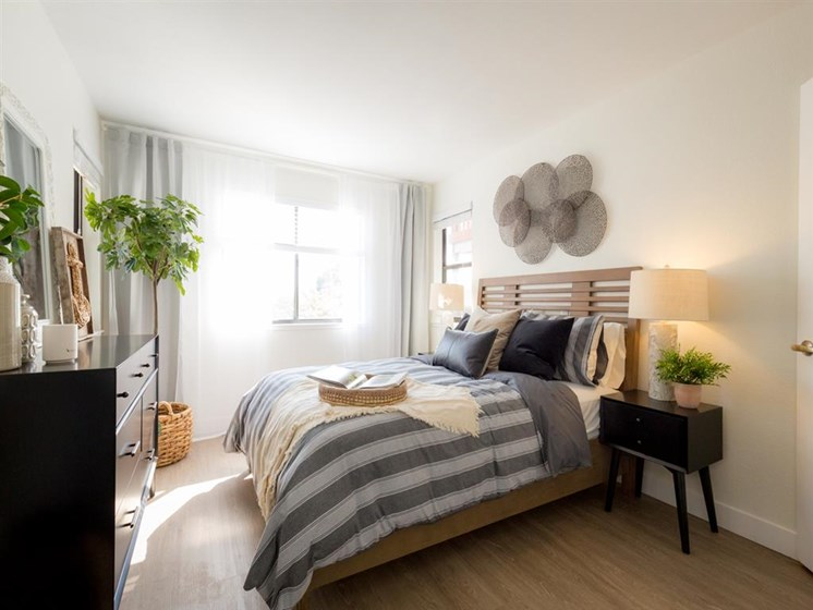 Beautiful Bright Bedroom With Wide Windows at Cogir of Vallejo Hills, California, 94591