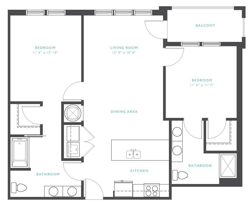 Catawba: Beds-2: Baths-2: Sq Ft Range - 1038-1038