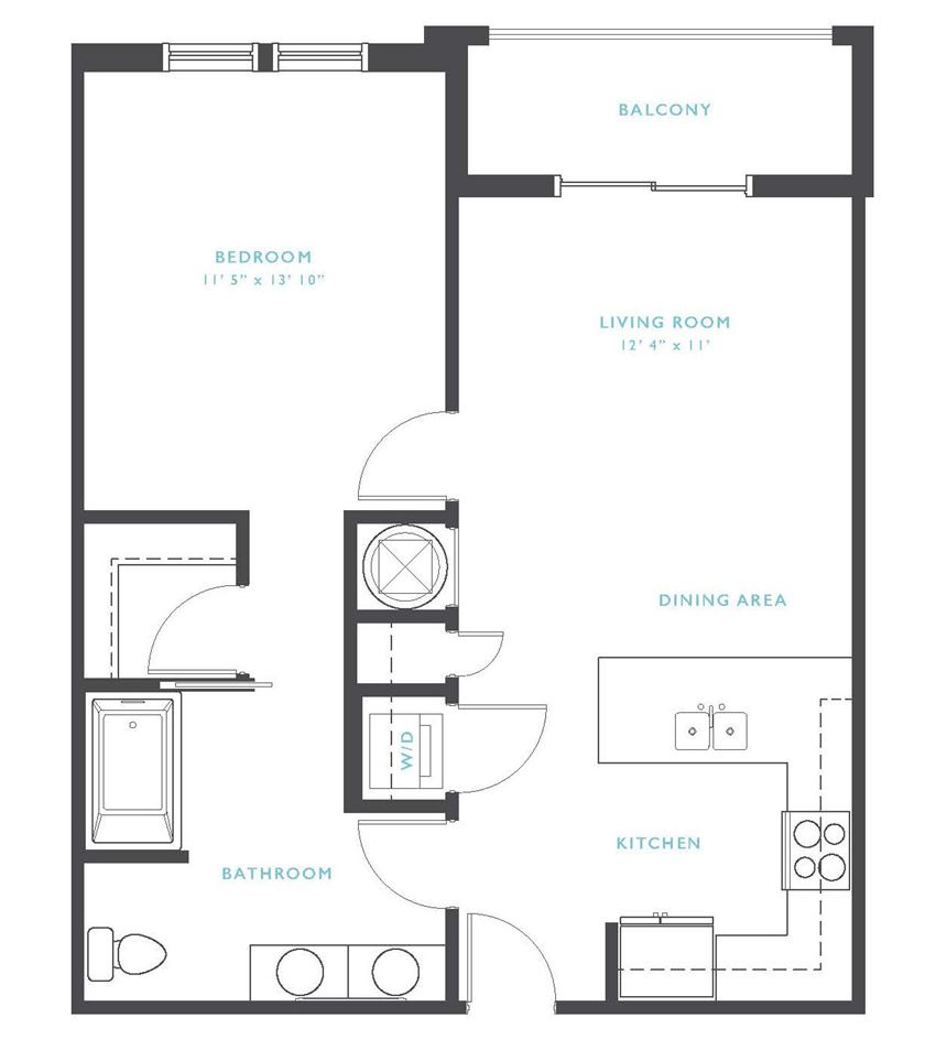 Chattooga: Beds-1: Baths-1: Sq Ft Range - 704-704