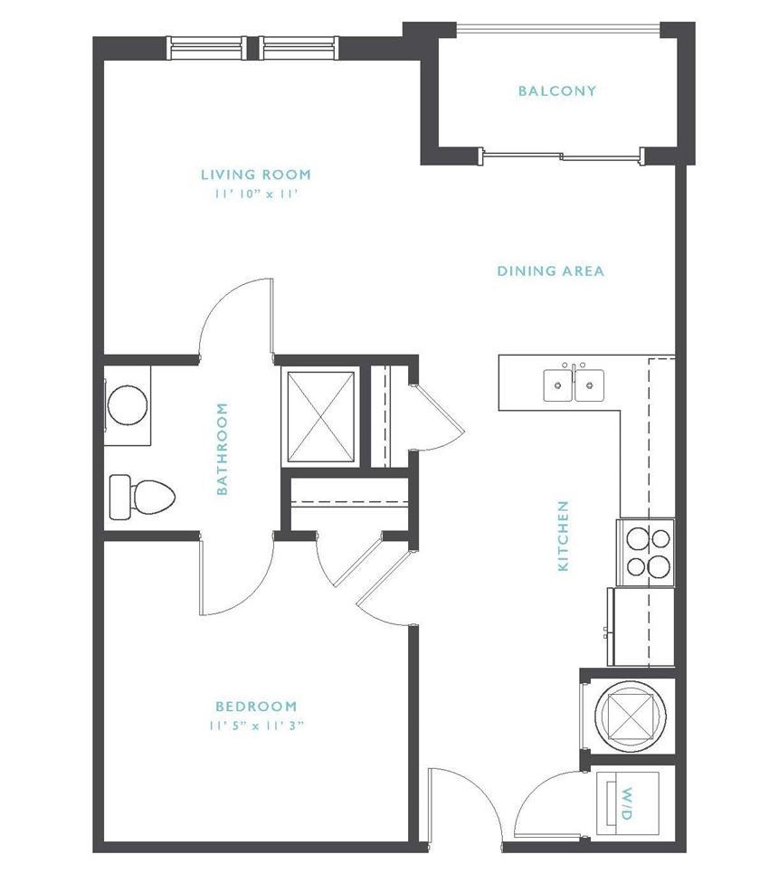 Cumberland: Beds-1: Baths-1: Sq Ft Range - 629-629
