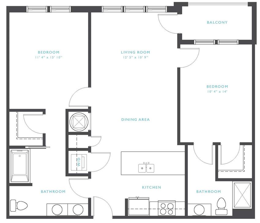 Deerfield: Beds-2: Baths-2: Sq Ft Range - 1027-1027