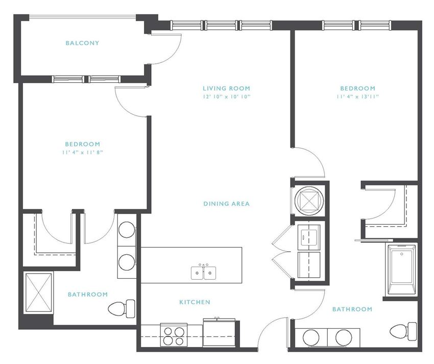 Jackson Hole: Beds-2: Baths-2: Sq Ft Range - 1038-1038