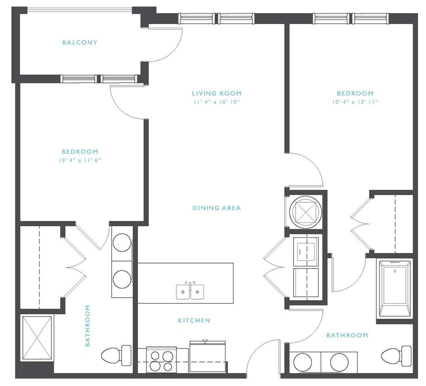 Nantahala: Beds-2: Baths-2: Sq Ft Range - 962-962