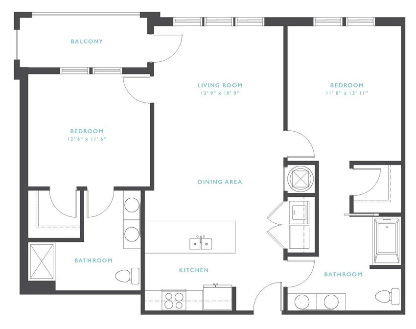 Rio Grande: Beds-2: Baths-2: Sq Ft Range - 1089-1089