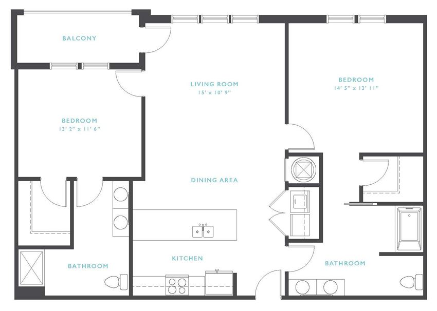 Rouge: Beds-2: Baths-2: Sq Ft Range - 1264-1264