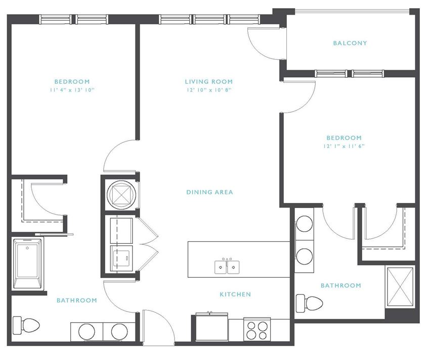 Royal Gorge: Beds-2: Baths-2: Sq Ft Range - 1054-1054