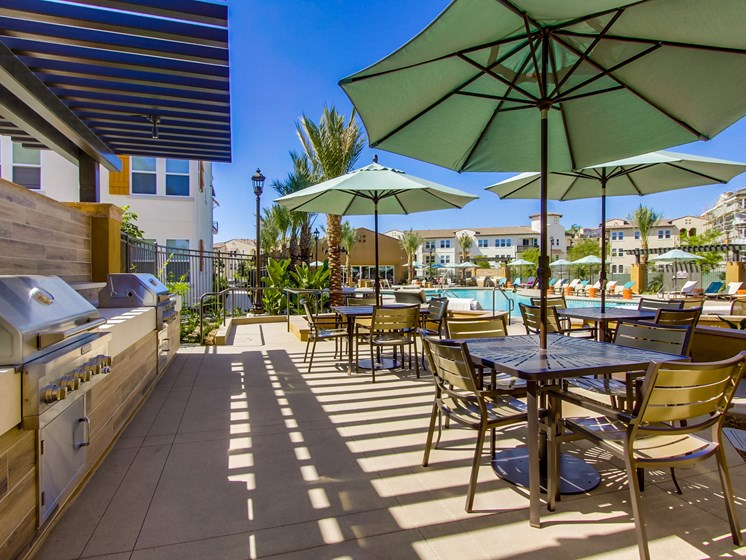 Barbecue Grills Avaliable At The Club At Enclave Apartments In Chula Vista, CA