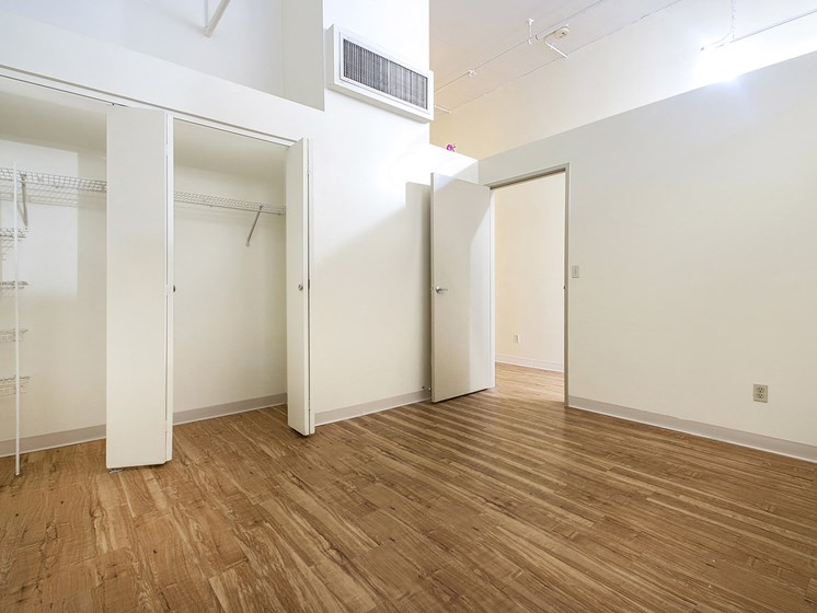 Denver Building Housing Unfurnished Apartment with Ample Closet Space