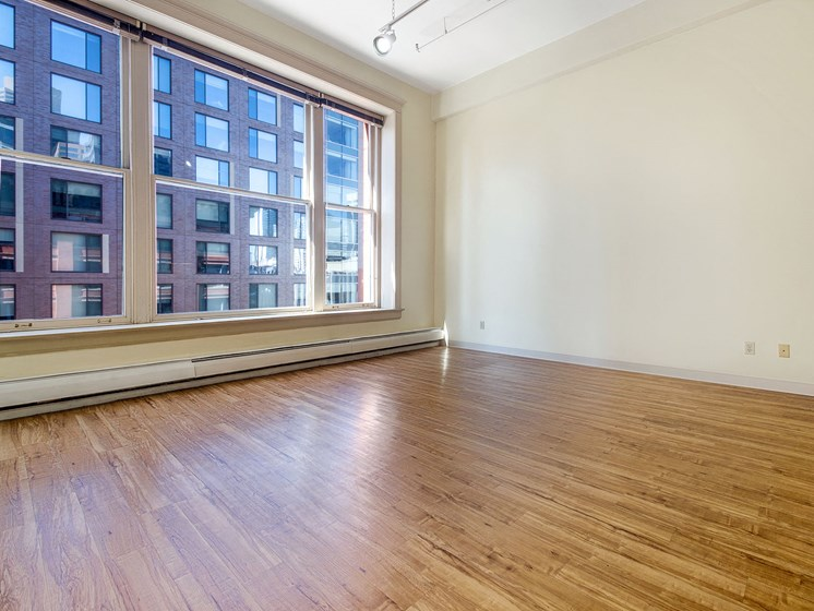 Denver Building Housing Unfurnished Apartment with Large Windows