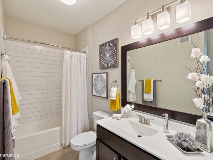 Bright Bathroom with a Bathtub
