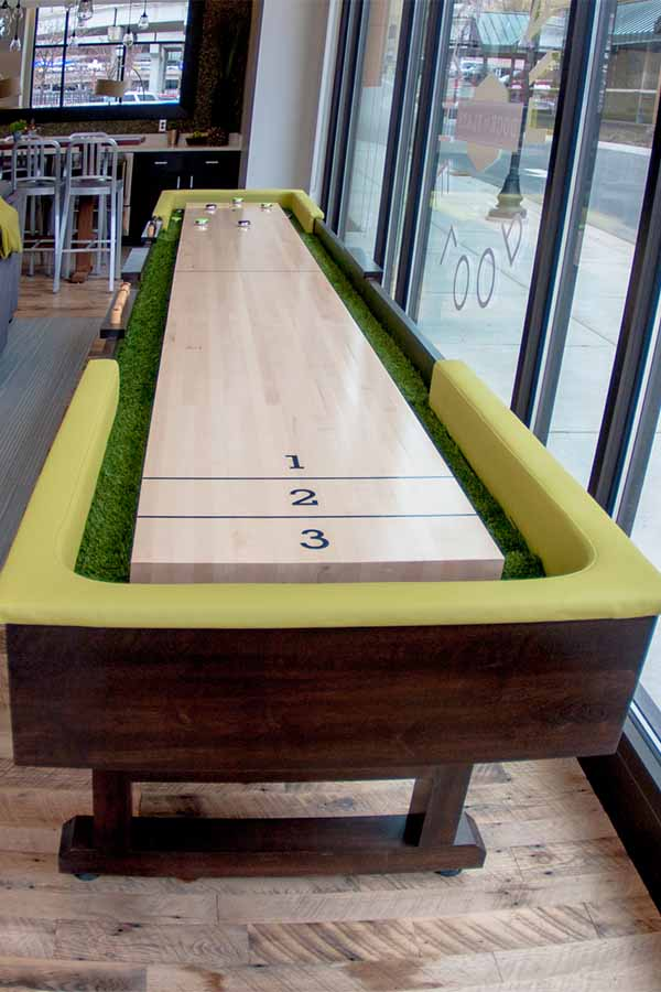 Shuffle board in the community center