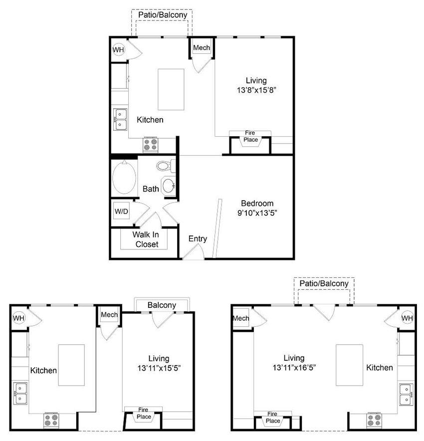 City Gate Blake one bedroom floor plan