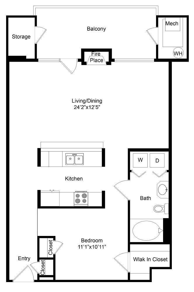 City Gate Irondale floor plan with fireplace