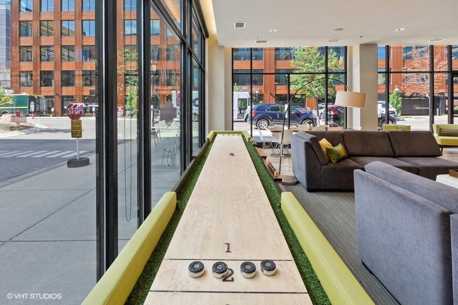 Shuffle Board Surrounded by Floor to Ceiling Windows