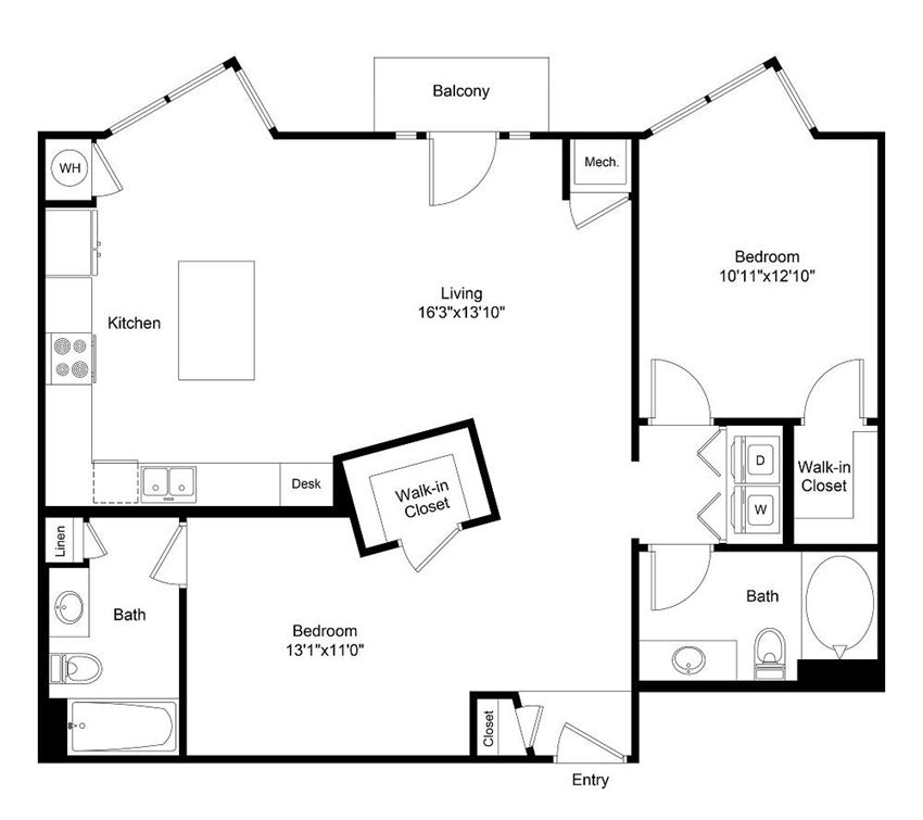 City Gate Downing floor plan
