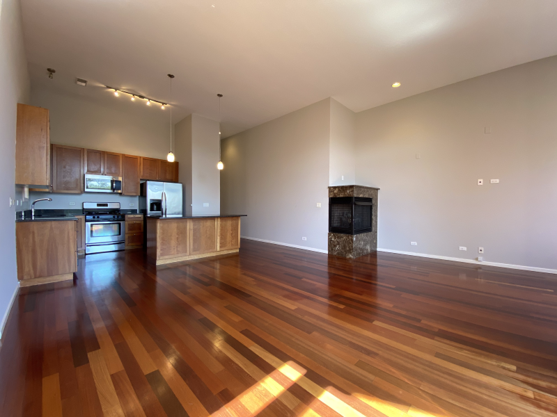 Stunning hardwood floors in the spacious living area
