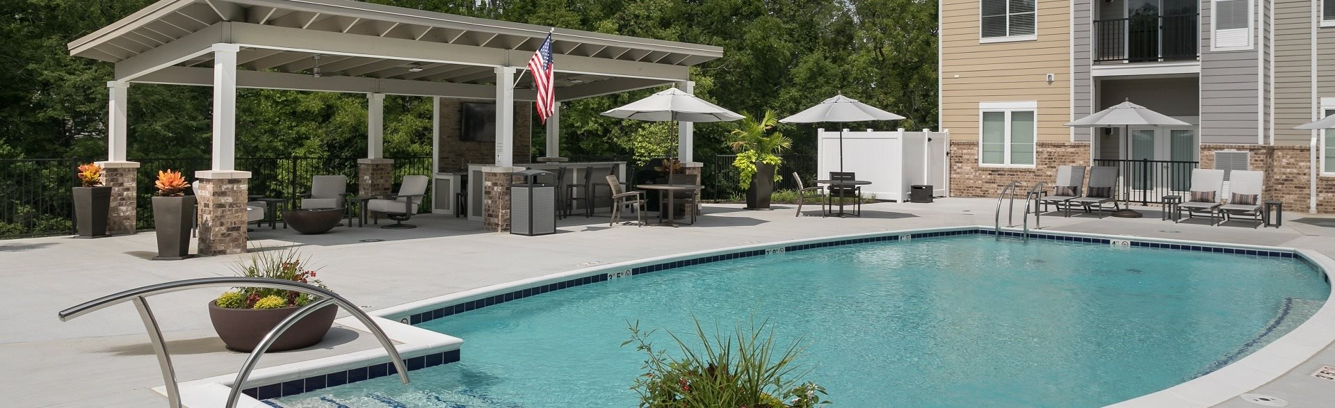 The Trace pool deck