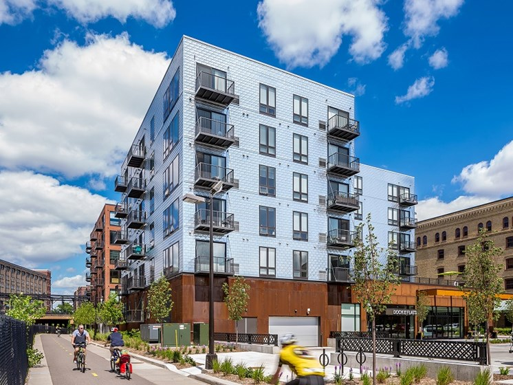 Modern exterior of community