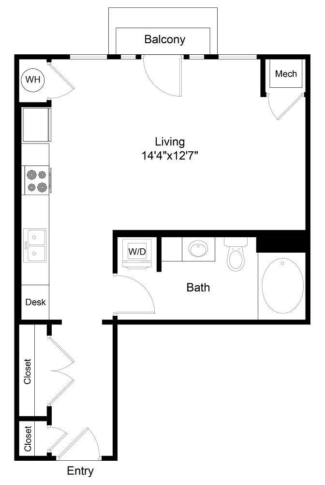 City Gate Market Studio floor plan